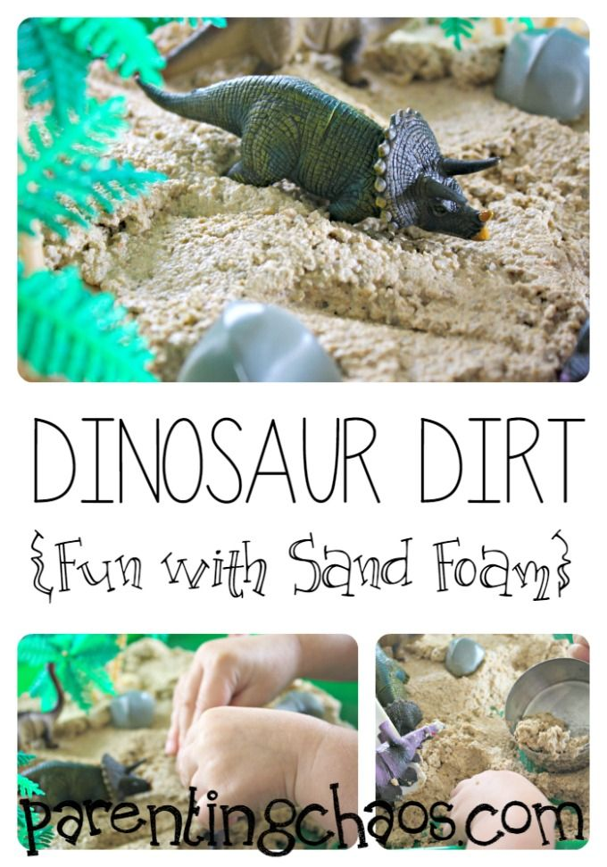 Dinosaur Dirt! Fun with Sand Foam!