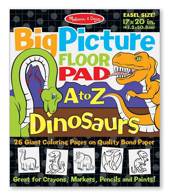 Melissa and Doug Big Picture Floor Pad A to Z Dinosaurs