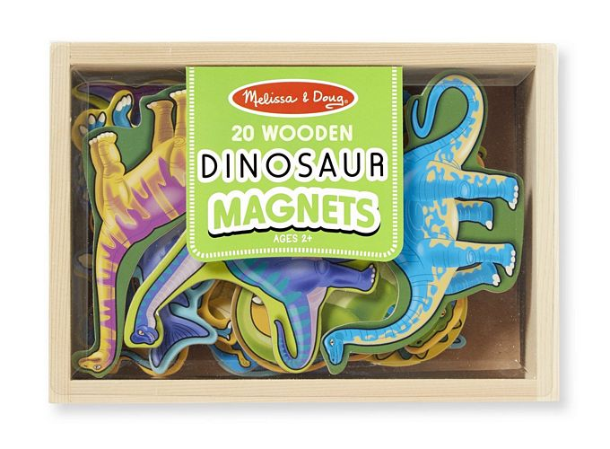 Melissa and Doug Magnetic Wooden Dinosaurs in a Box