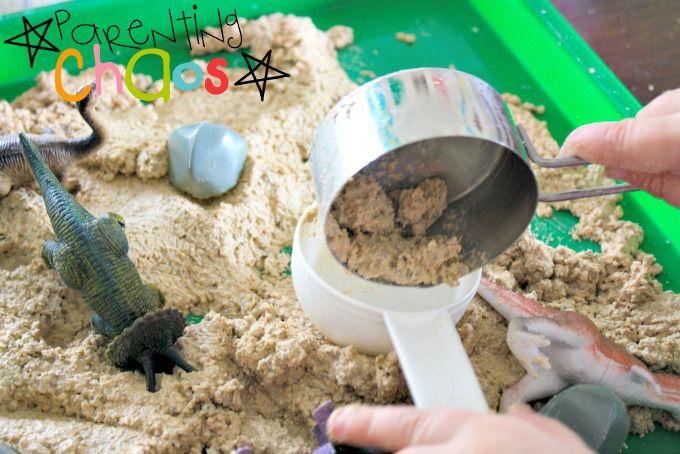 Dinosaur Dirt! Fun with Sand Foam!