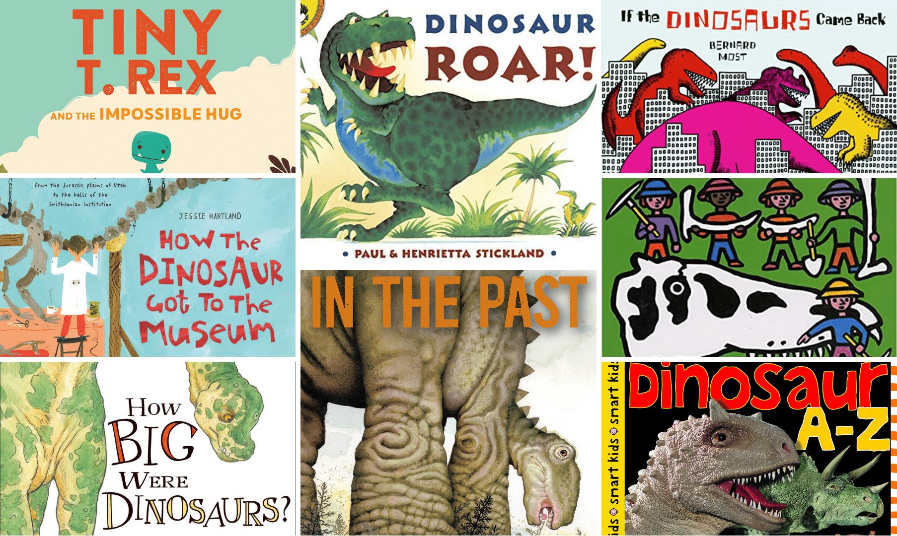 dinosaur books for kids collage