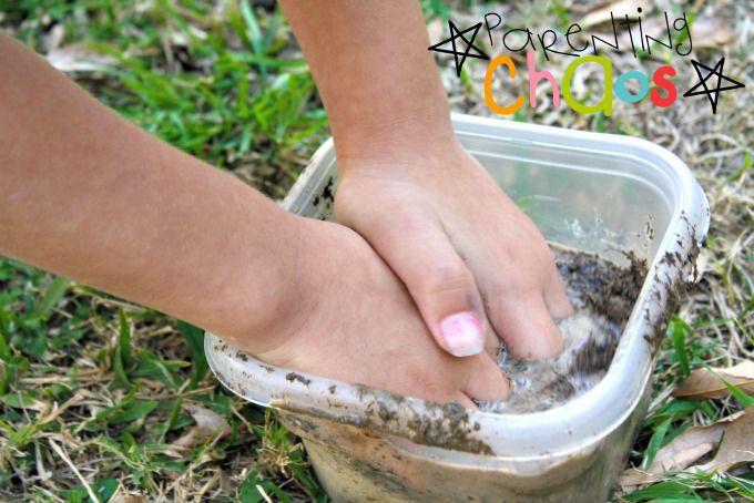 Dinosaur Nests Mixing Mud