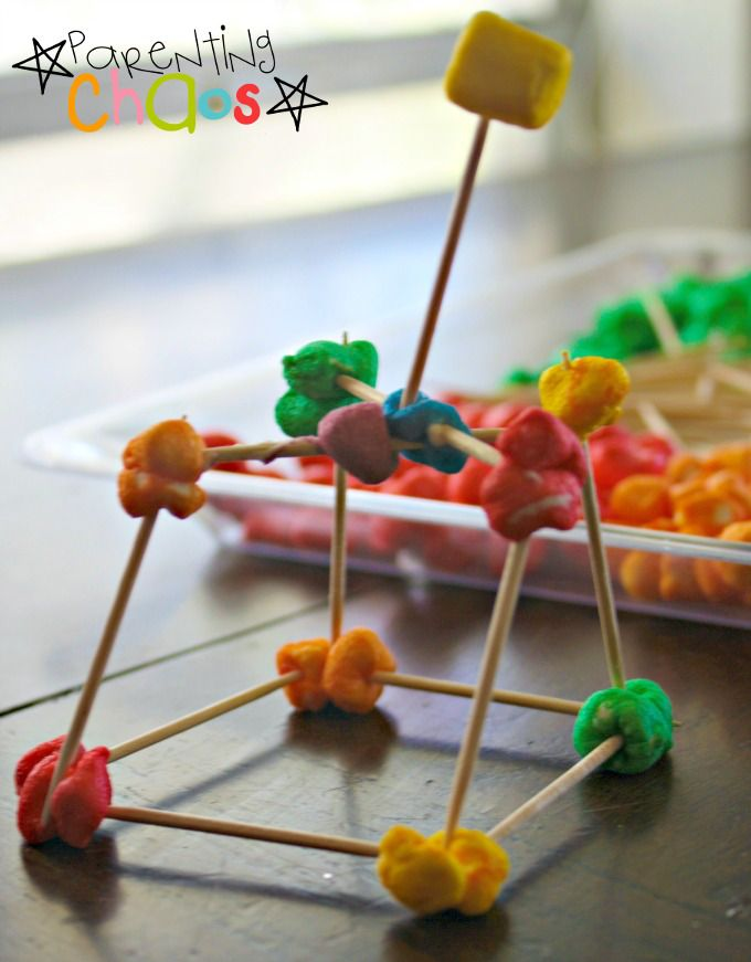 Marshmallow Toothpick Engineering- Construction Play for Kids!