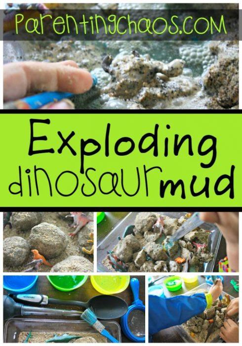 Exploding Dinosaur Mud!