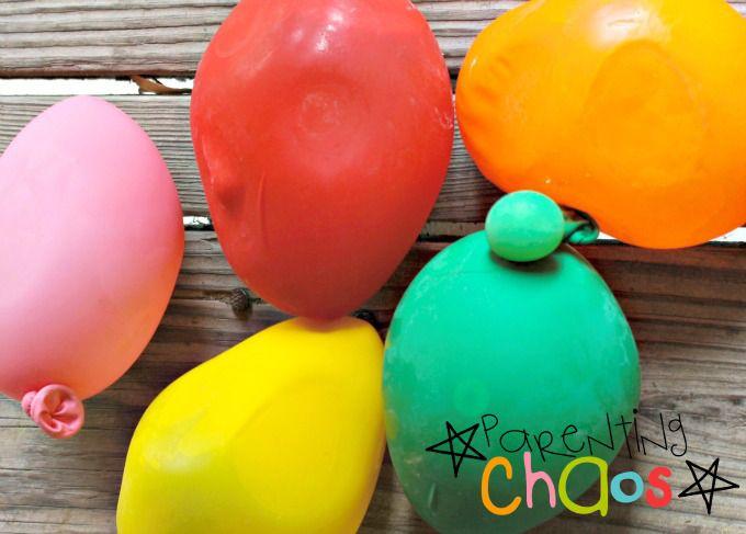 Using Balloons to Shape Frozen Dinosaur Eggs