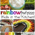 Rainbow Fruit Pizza: Fun Kids in the Kitchen Activity!