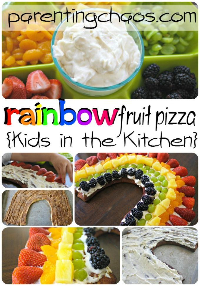 Rainbow Fruit Pizza: Fun Kids in the Kitchen Activity!