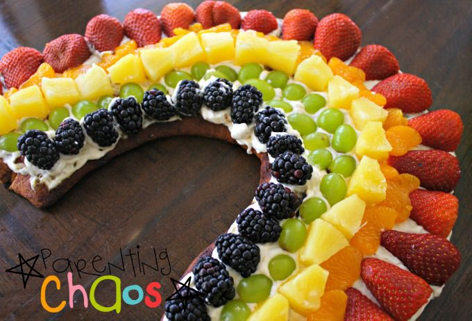 Ingredients Needed for Rainbow Fruit Pizza: