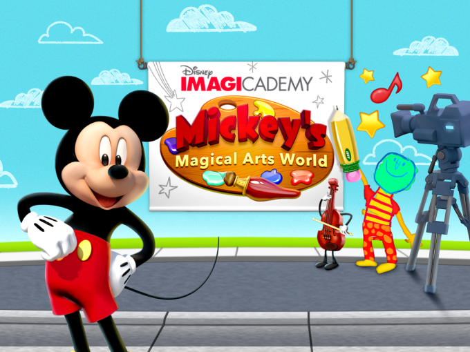 Disney Imagicademy Mickey's Magical Art World iPad App for Kids
