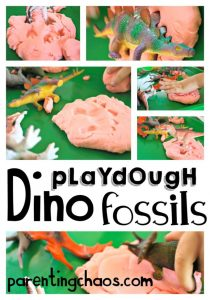 Playdough Dinosaur Fossils