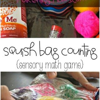 Squish Bag Sensory Math Game