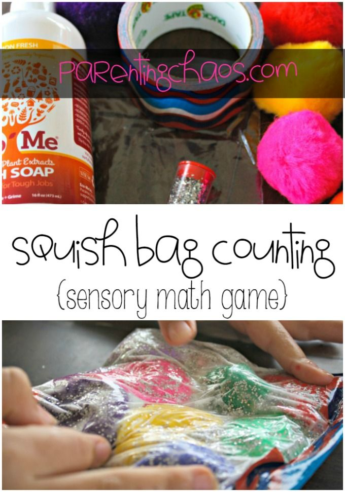 Squish Bag Sensory Math Game