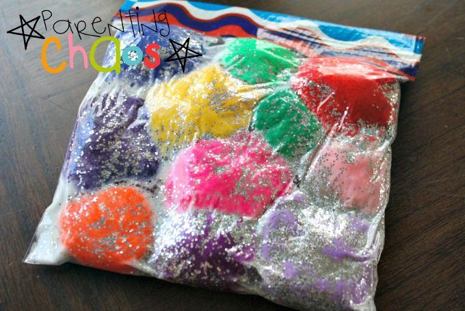 Tape squish bag