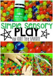 Water Bead Sensory Play for Quiet Time