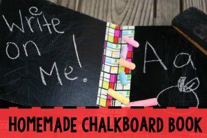 Homemade Chalkboard Book