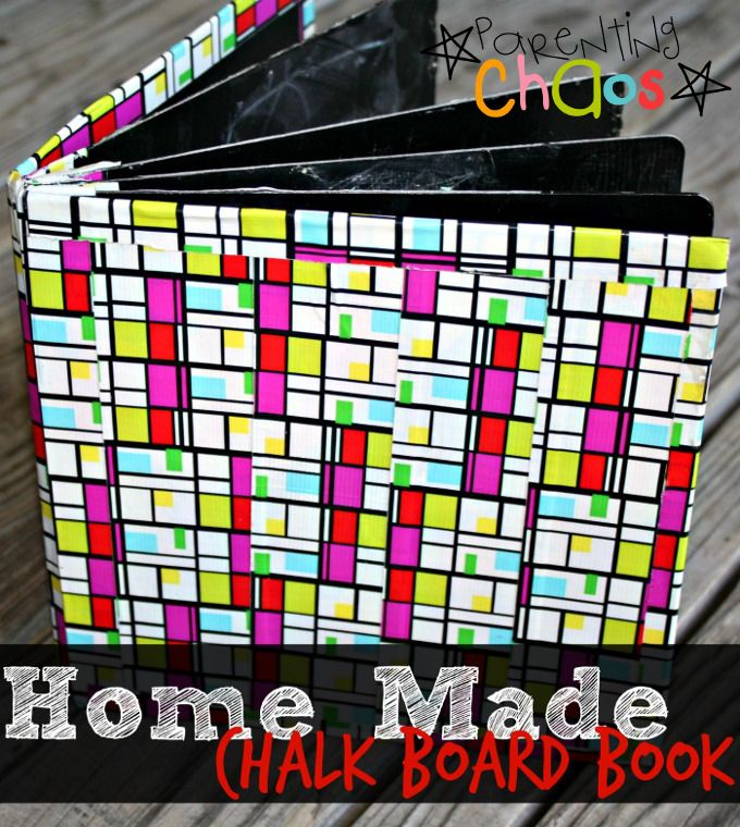 Homemade Chalkboard Book Tutorial