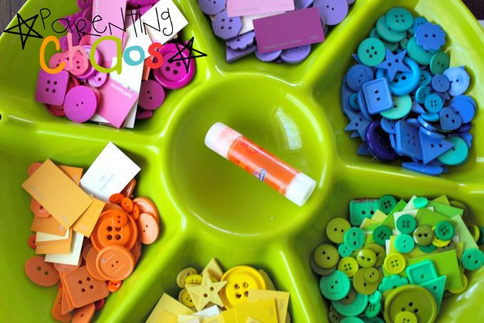 Items Needed for The Very Hungry Caterpillar Color Sorting