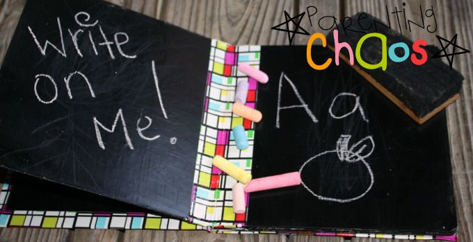 DIY Chalkboard Book Tutorial