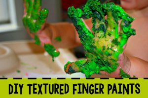 DIY Textured Finger Paints
