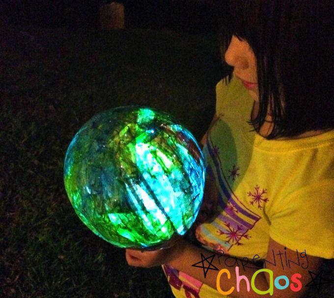 Earth Day Paper Mache Lantern