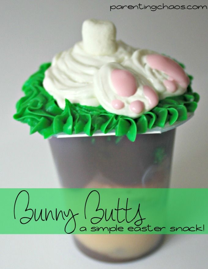 Bunny Butts Easter Snack