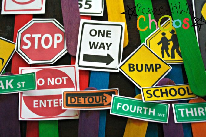 Environmental Print Road Signs
