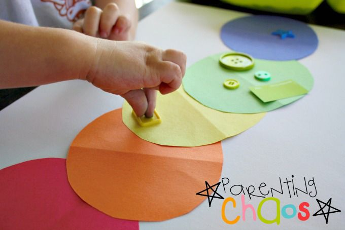 The Very Hungry Caterpillar Color Sorting Activity for Toddlers