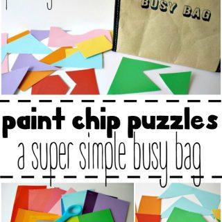 DIY Paint Chip Puzzles