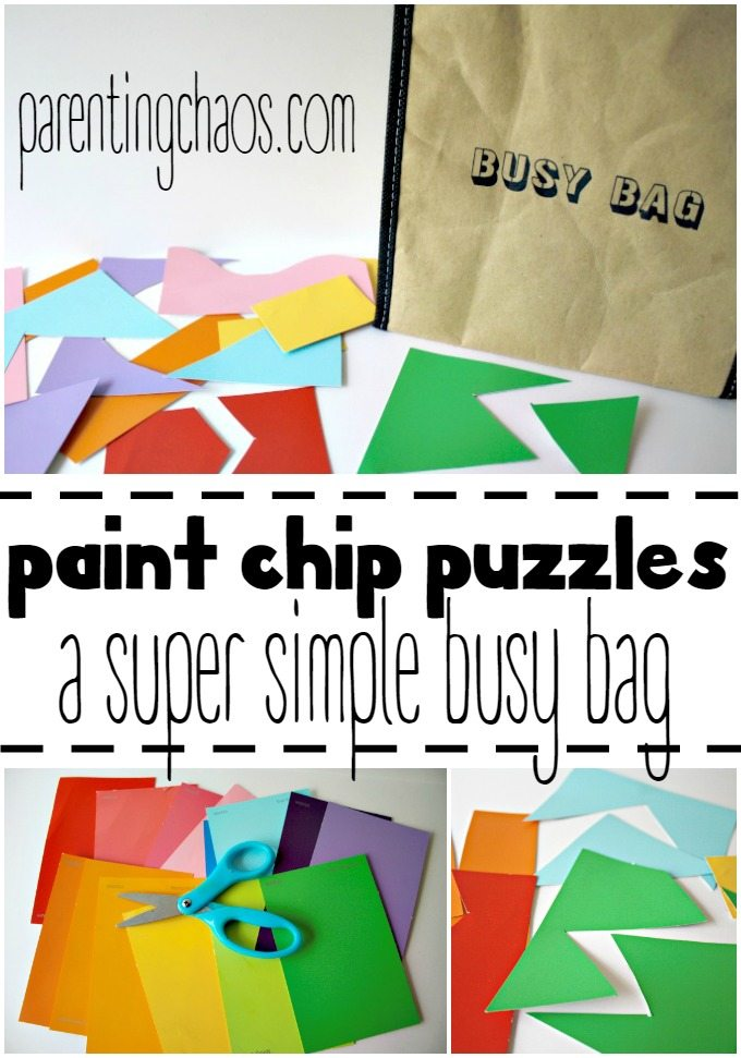DIY Paint Chip Puzzles