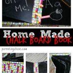 Easy Homemade Chalkboard Board Book Tutorial