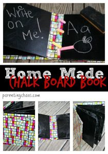 Easy Homemade Chalkboard Board Book Tutorial