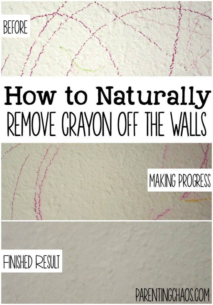 How to Naturally Get Crayon OFF the Walls