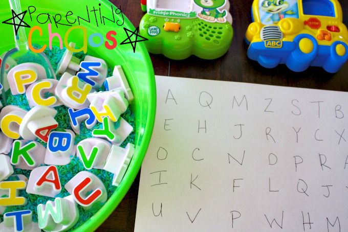 Items Needed for Letter Factory Mixed Up Letters Game!