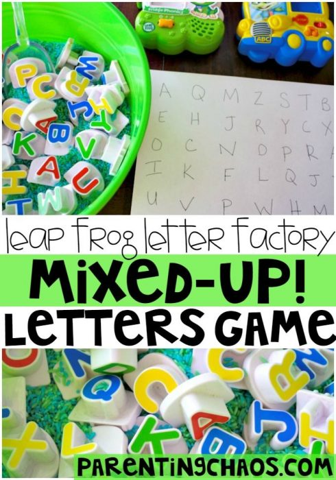 Letter Factory Mixed Up Letters Game!