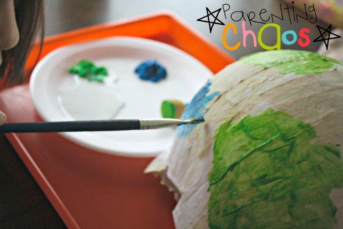 Painting Papier-mâché Globes