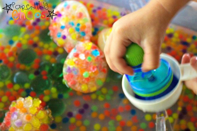 Squishing Frozen Water Beads