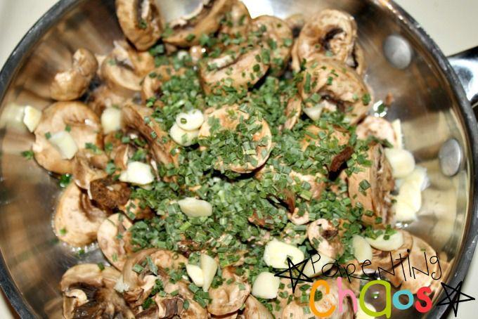 Sautée Mushrooms and Garlic