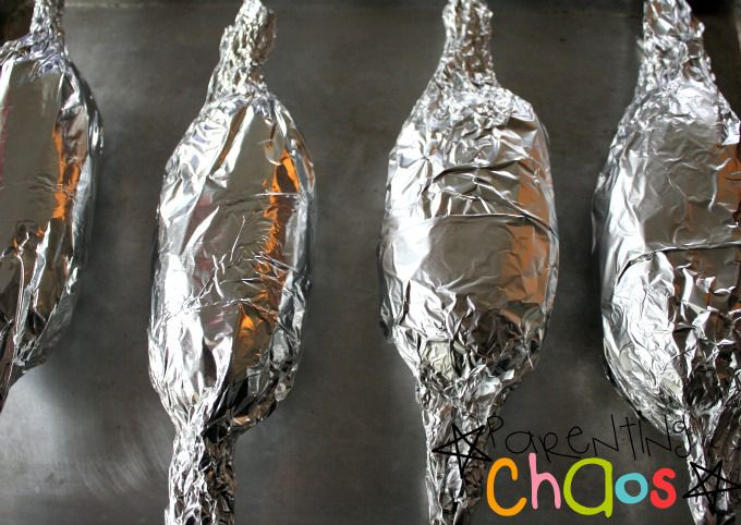 Tin Foil Wrapped Twice Baked Potatoes
