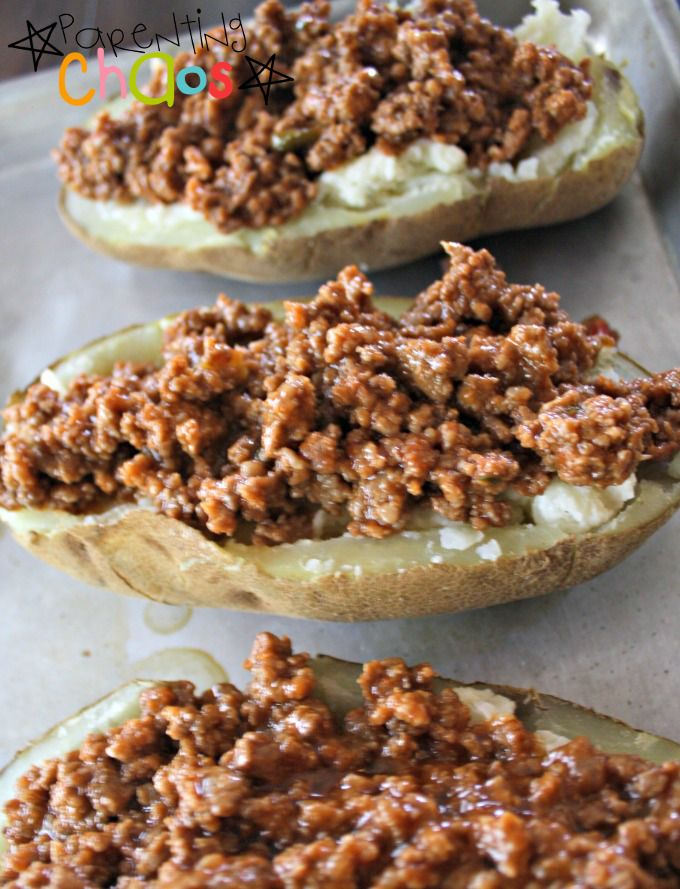 Sloppy Joe Twice Baked Potatoes