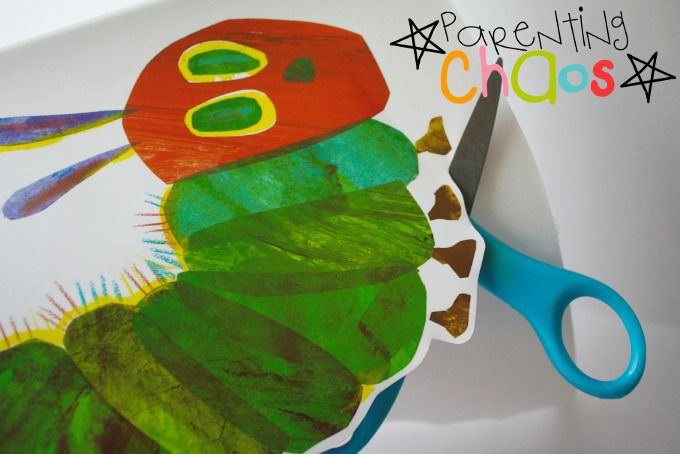 The Very Hungry Caterpillar DIY Puzzle Made from a Book Sleeve