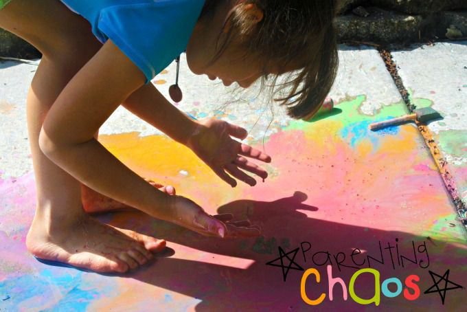Scented Sidewalk Chalk Paint Exploration