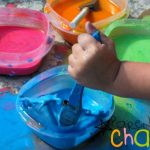 Color Mixing with Scented Sidewalk Chalk Paint