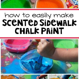 How to Easily Make Scented Sidewalk Chalk Paint