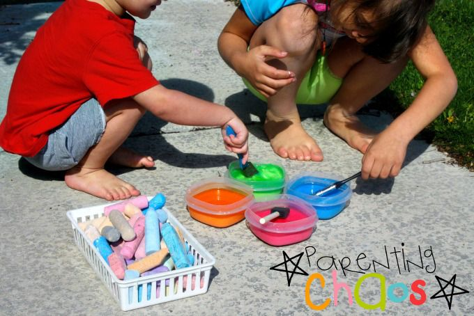 Playing with Scented Sidewalk Chalk