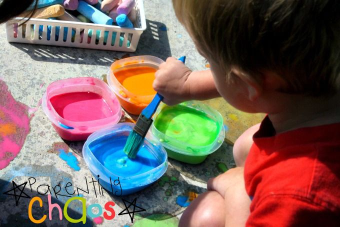 Homemade Scented Sidewalk Chalk Paint