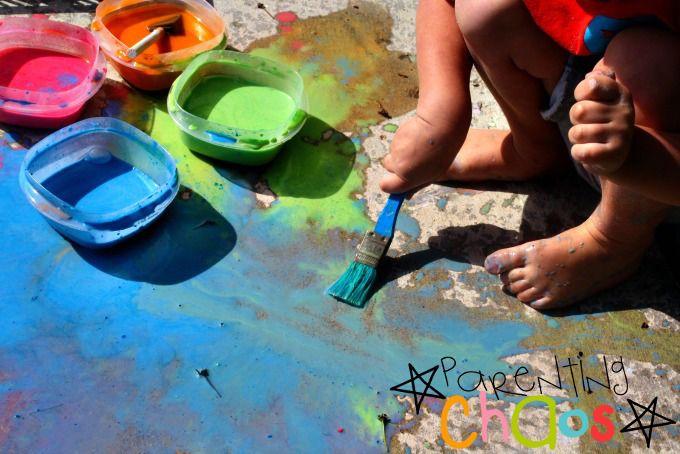 Scented Sidewalk Chalk Paint