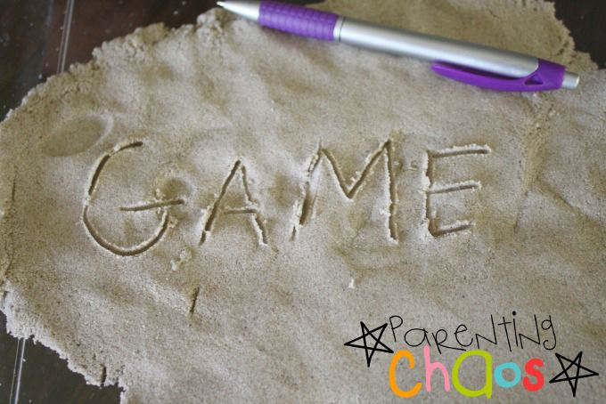 Writing with Kinetic Sand