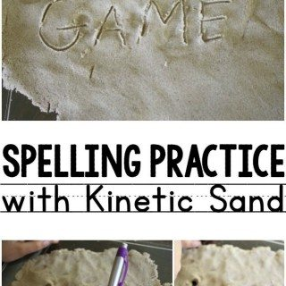 Spelling Practice with Kinetic Sand