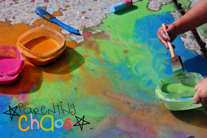 Adding Scented Sidewalk Chalk Paint to the Color Puddle