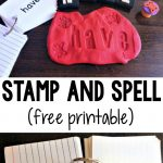 Stamp and Spell Activity for Kids